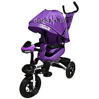 Велосипед трехколесный TILLY MAGNUM T-382 Фиолетовый, поворотное сидение, музыка,свет, 6цв.