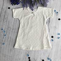 Крестильная рубаха на девочку 4. Размер 68 см