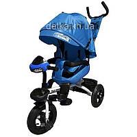 Велосипед трехколесный TILLY MAGNUM T-382 Синий, поворотное сидение, музыка,свет, 6цв.
