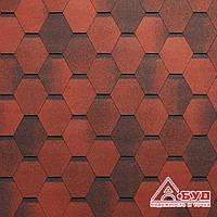 Битумная черепица Tegola Mosaic (Мозаик) Красный гранит