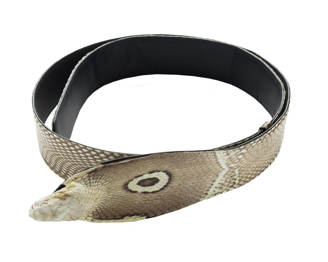Ремень изк ожи кобры для джинсов Ekzotic Leather (snb18)