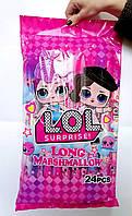 Маршмеллоу Long LOL, 24 шт в упаковке (длинный, плетеный зефир)