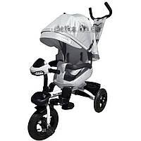 Велосипед трехколесный TILLY MAGNUM T-382 Серый, поворотное сидение, музыка,свет, 6цв.