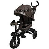Велосипед трехколесный TILLY MAGNUM T-382 Серый, поворотное сидение, музыка,свет, 6цв., фото 2