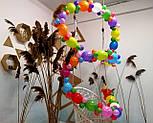 Гирлянда с воздушных шариков (радужная) /маленькие шарики/ Насос для воздушных шариков в комплекте, фото 4