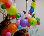 Гирлянда с воздушных шариков (радужная) /маленькие шарики/ Насос для воздушных шариков в комплекте, фото 3