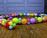 Гирлянда с воздушных шариков (радужная) /маленькие шарики/ Насос для воздушных шариков в комплекте, фото 5