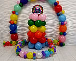Гирлянда с воздушных шариков (радужная) /маленькие шарики/ Насос для воздушных шариков в комплекте, фото 9