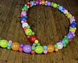 Гирлянда с воздушных шариков (радужная) /маленькие шарики/ Насос для воздушных шариков в комплекте, фото 7