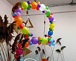 Гирлянда с воздушных шариков (радужная) /маленькие шарики/ Насос для воздушных шариков в комплекте, фото 8