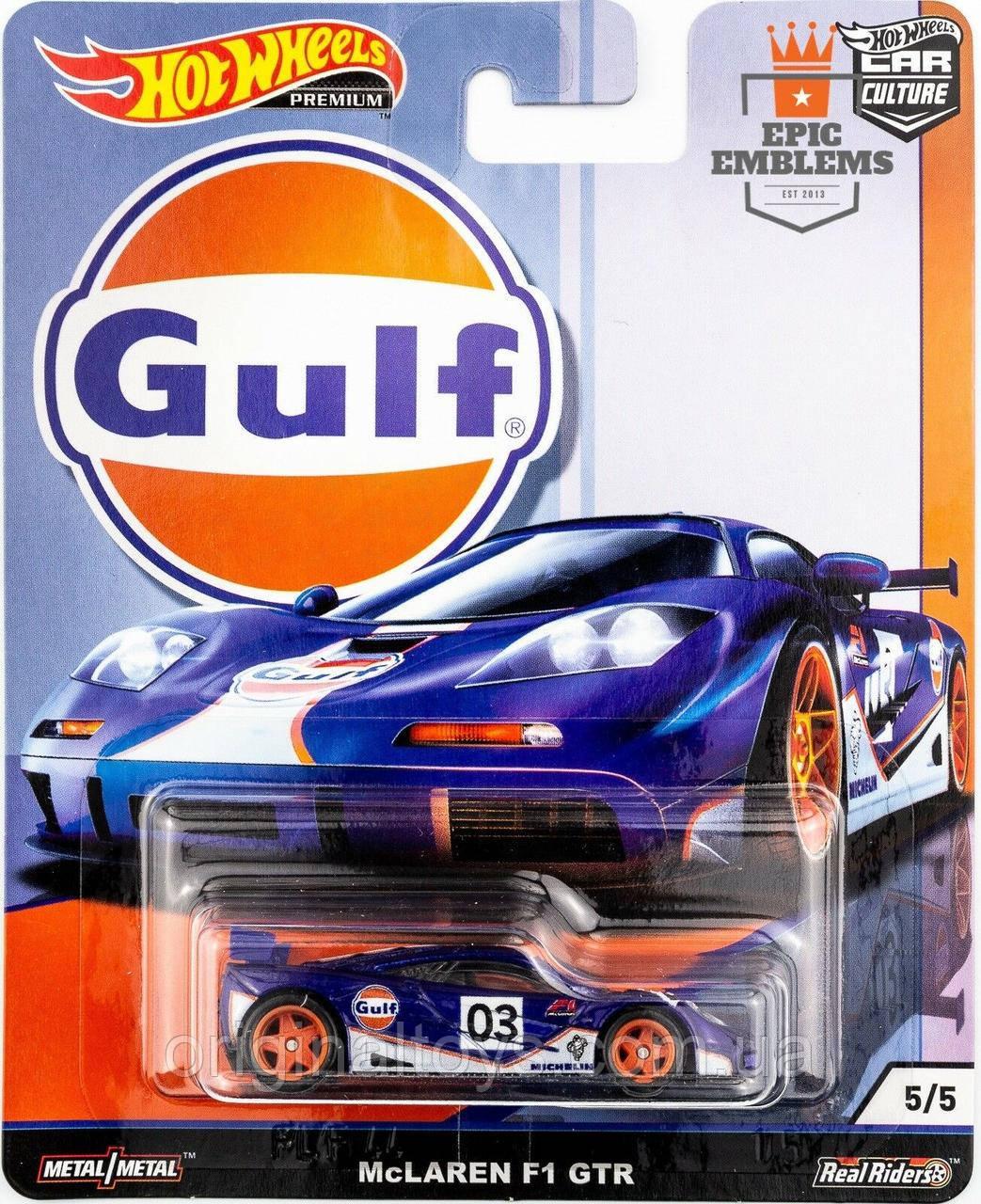 Коллекционная машинка Hot Wheels McLAREN F1 GTR