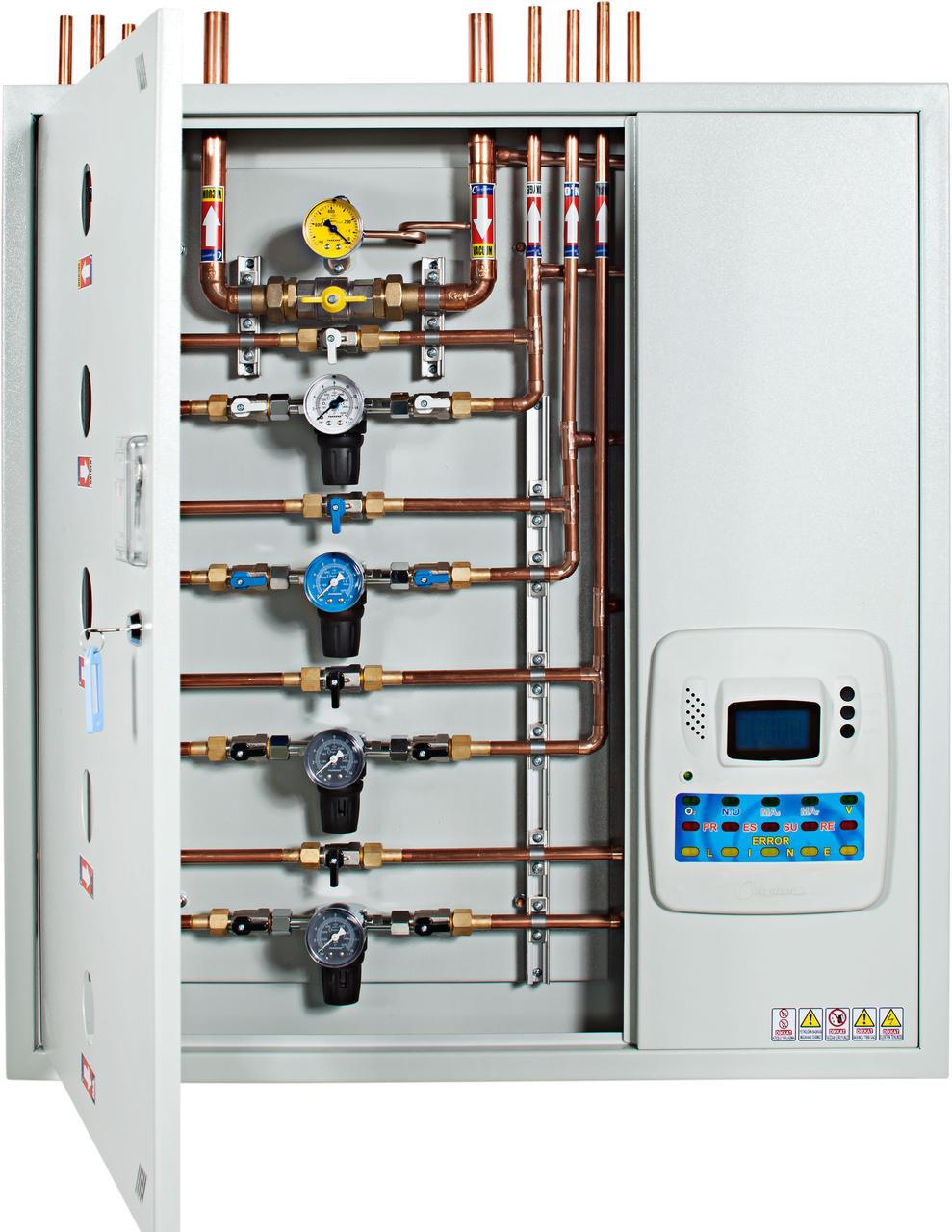 Модуль контроля и сигнализации медицинских газов с редукторами