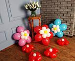 Цветы из воздушных шариков для украшения праздника (набор из семи цветков), фото 3