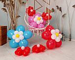 Цветы из воздушных шариков для украшения праздника (набор из семи цветков), фото 4