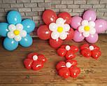 Цветы из воздушных шариков для украшения праздника (набор из семи цветков), фото 5