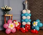 Цветы из воздушных шариков для украшения праздника (набор из семи цветков), фото 9