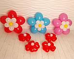 Цветы из воздушных шариков для украшения праздника (набор из семи цветков), фото 7