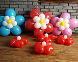 Цветы из воздушных шариков для украшения праздника (набор из семи цветков), фото 8
