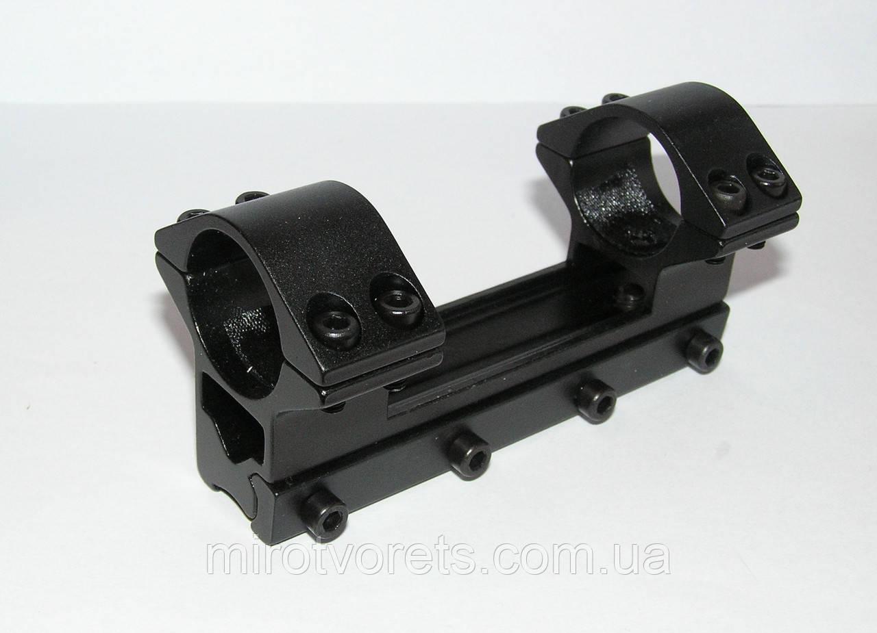 Крепление оптического прицела моноблок ласточкин хвост d 25.4 мм
