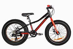 """Подростковый велосипед 20"""" Optimabikes PALADIN DD 2019 (черно-красный) OPS-OP-20-006"""