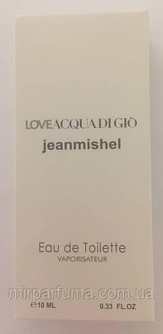Мужские мини духи jeanmishel Love Acqua Di Gio 10ml оптом, фото 2