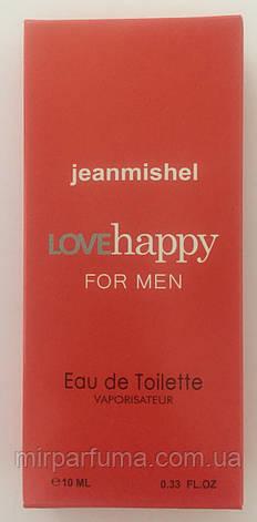 Мужские мини духи jeanmishel Love Happy 10ml оптом, фото 2