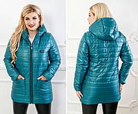 Стильная женская куртка больших размеров от 48 до 58 рр (6 цветов), фото 1