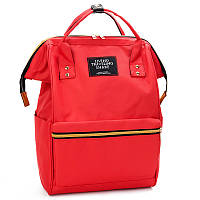 Женский рюкзак-сумка красный стильный из ткани , фото 1