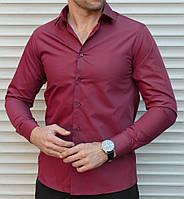 f652a3e1e39 Бордовая мужская рубашка в категории рубашки мужские в Украине ...