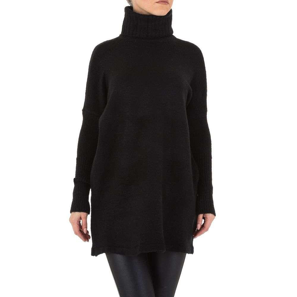 Женский свитер туника оверсайз от бренда Shk Paris (Франция), Черный