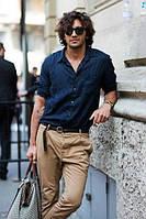 Чоловіча сорочка з 100% льону. Колір на вибір