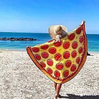 Покрывало пляжное Пицца платок подстилка 3D