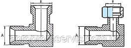 Штуцера угловые гидравлики  S17 (М14х1.5-М14х1.5)