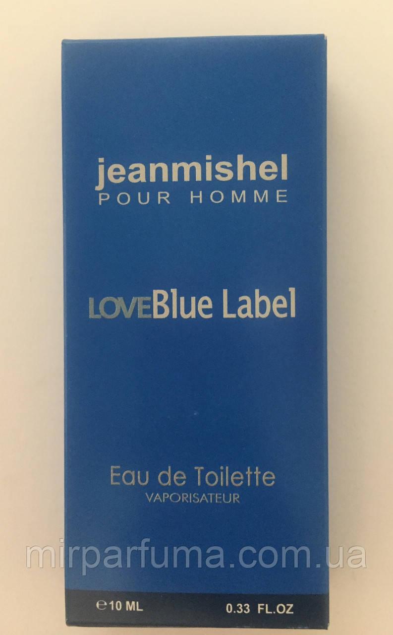 Мужские мини духи jeanmishel Love Blue Label 10ml оптом
