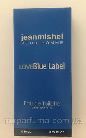 Мужские мини духи jeanmishel Love Blue Label 10ml оптом, фото 2