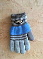 Перчатки для мальчика двухслойные голубой