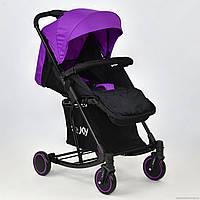 Детская прогулочная коляска с качалкой JOY Т-609  фиолетовая
