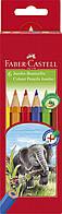 "Цветные карандаши Faber Castell JUMBO ""Слоник"" 111206 (6 цв.)"