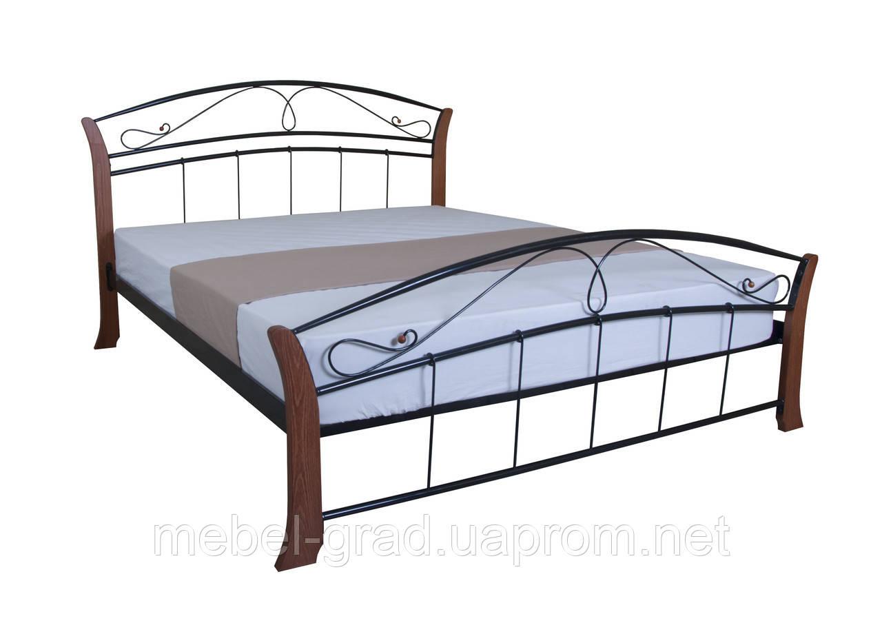 Кровать двухспальная Селена Вуд MELBI 140х200