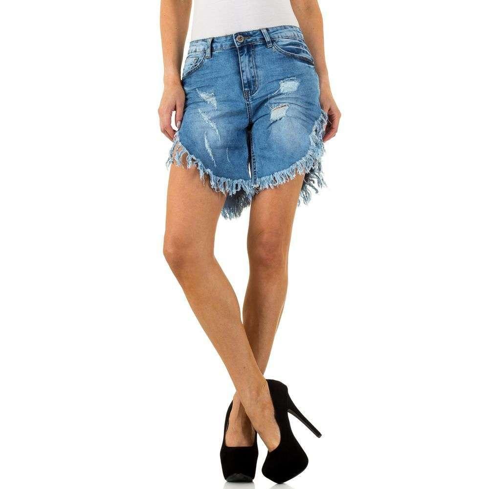 Рваные джинсовые шорты Daysie Jeans (Европа) Голубой