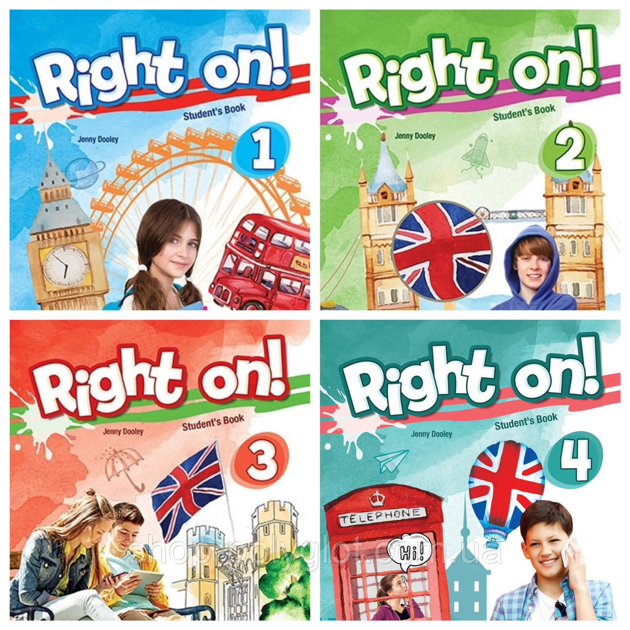 Right on! 1 - 4 (Student's Book + Workbook)