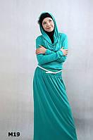 Платье макси с капюшоном для мусульманок