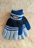 Перчатки для мальчика двухслойные серый