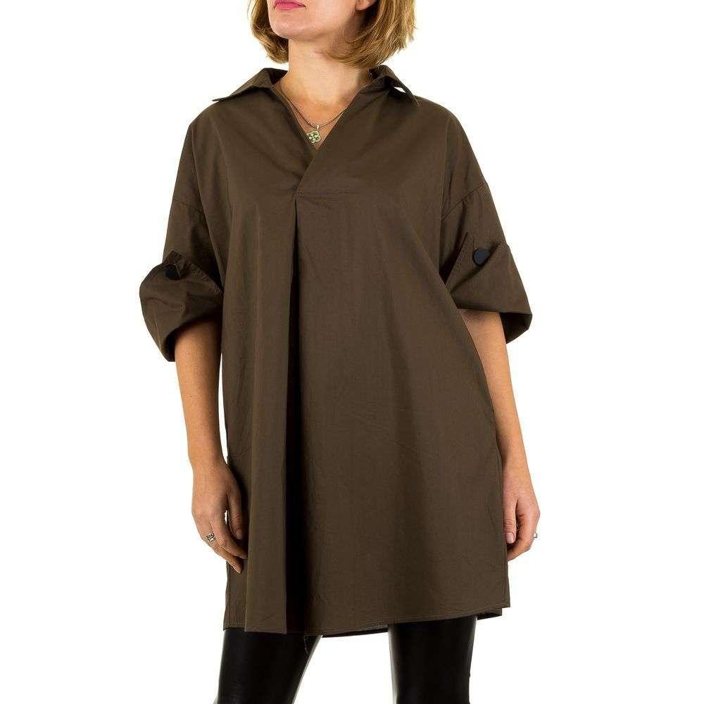 Женская блузка, размер one size - coffee - KL-TS-836-coffee