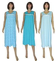 9a9592591544a6c Ночная рубашка женская длинная 03260 Romashka Blue коттон, норма и батал,  р.р