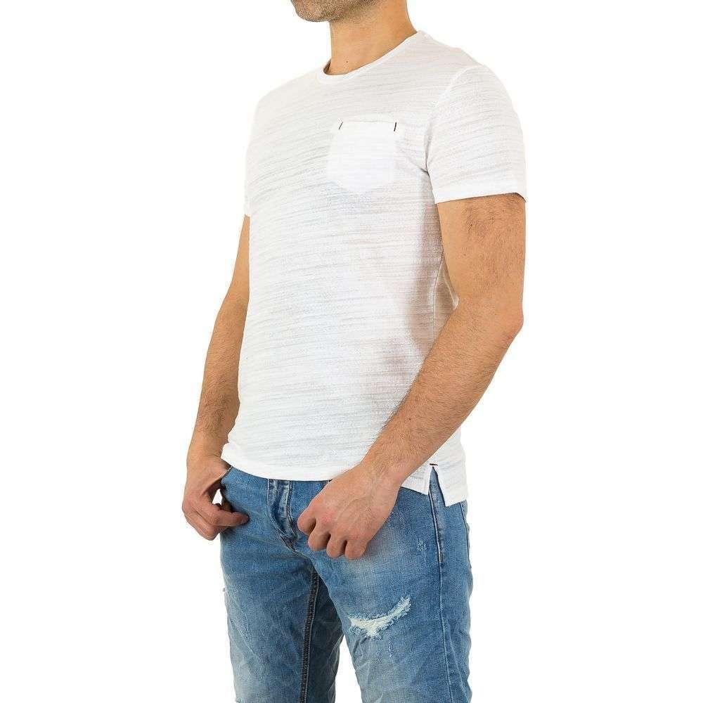 Мужская футболка от Y. Two Jeans - белый - KL-H-F796-белый