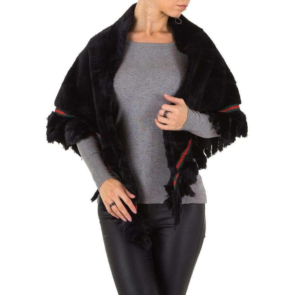 Шаль женская плюшевая Holala (Европа),  универсальный размер, Черный