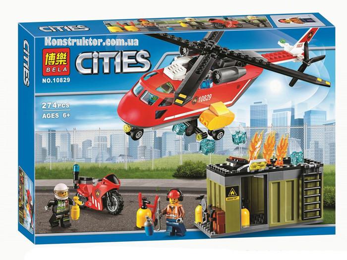"""Конструктор Bela 10829 """"Пожарная команда быстрого реагирования"""" 274 деталей. Аналог LEGO City 60108"""