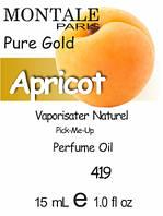 Парфюмерное масло версия аромата (419) Pure Gold Montale - 15 мл композит в роллоне