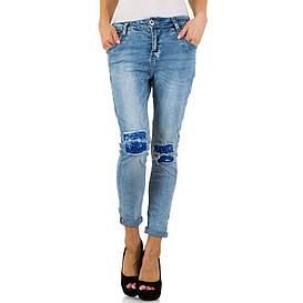 Женские джинсы с декорированными коленями от Mozzaar (Европа) Синий